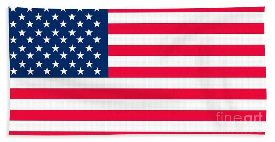 America Beach Towel featuring the painting Flag Of The United States Of America by Anonymous