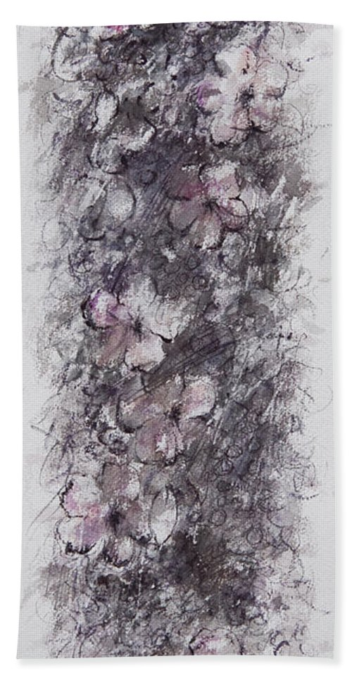 Floral Beach Towel featuring the painting floral cascade II by William Russell Nowicki