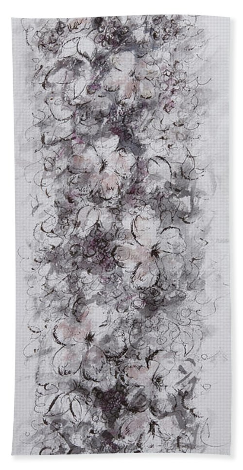 Floral Beach Towel featuring the painting Floral Cascade by William Russell Nowicki