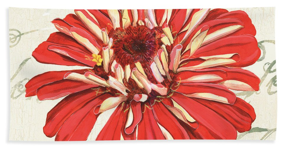 Floral Beach Towel featuring the painting Floral Inspiration 1 by Debbie DeWitt