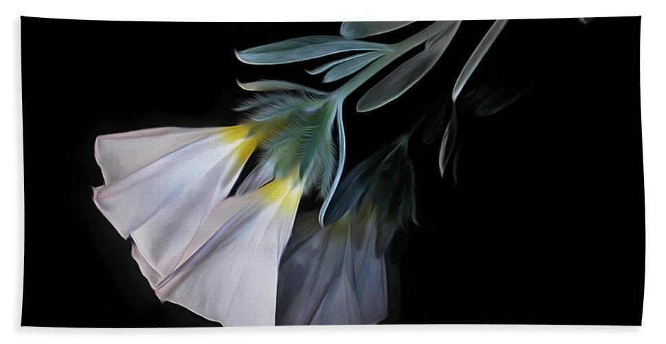 Photography Beach Towel featuring the photograph Floral Reflections 3 by Kaye Menner