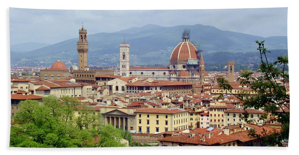 Florence Beach Towel featuring the photograph Florence by Ellen Henneke