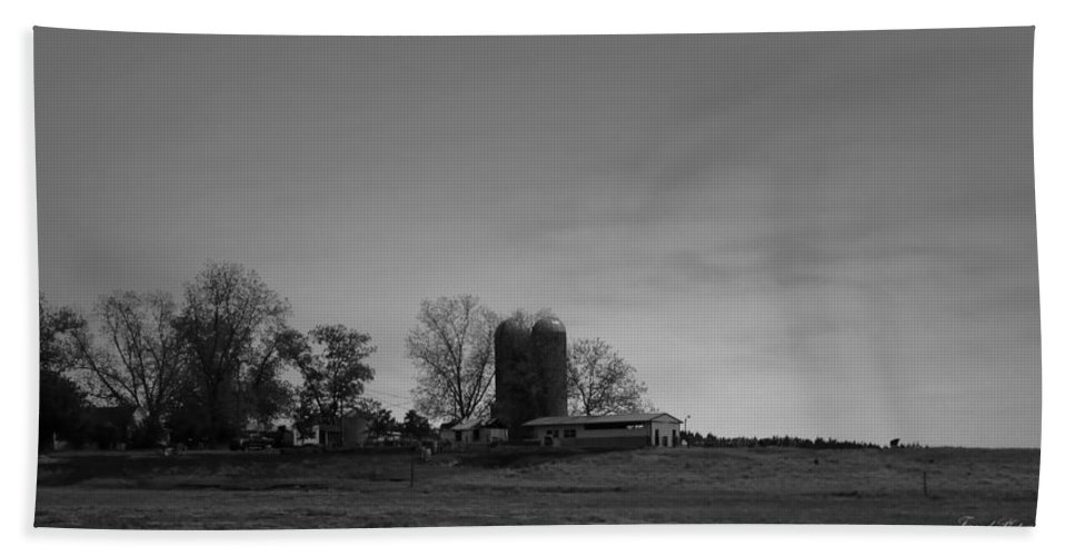 Farmland Beach Towel featuring the photograph Florida Farmlands Black And White by Debra Forand