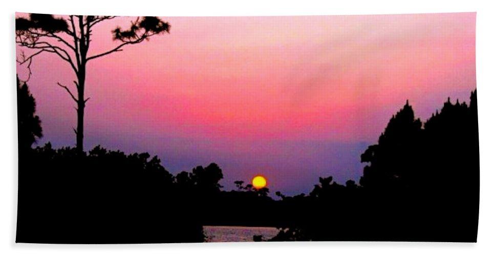 Florida Beach Towel featuring the photograph Florida Sunset by Anita Lewis