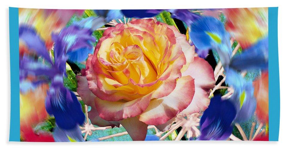 Flowers Beach Towel featuring the digital art Flower Dance 2 by Lisa Yount