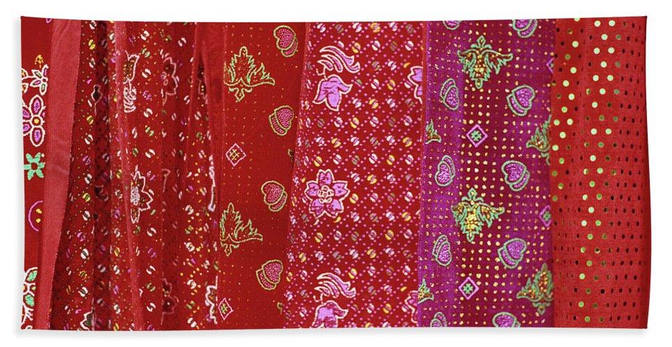 Vietnam Beach Towel featuring the photograph Flower Hmong Velvet by Rick Piper Photography