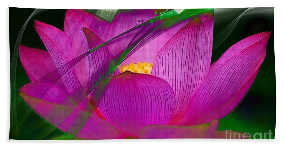 Flower Beach Towel featuring the mixed media Flower by Marvin Blaine