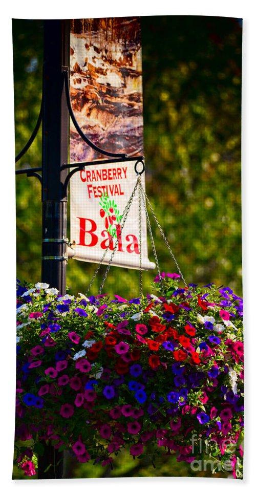 Flowers Beach Towel featuring the photograph Flowerpot In Bala by Les Palenik
