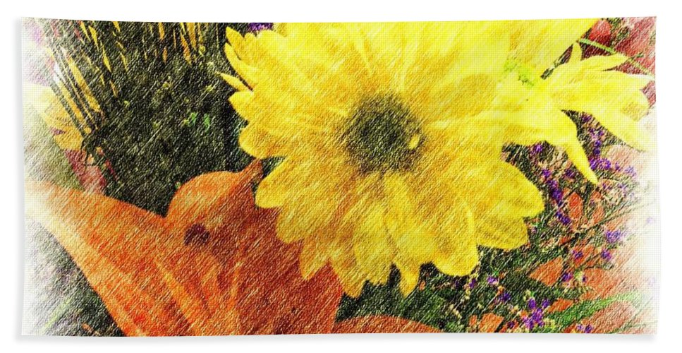 Lily Beach Towel featuring the photograph Flowers With Love by Luther Fine Art