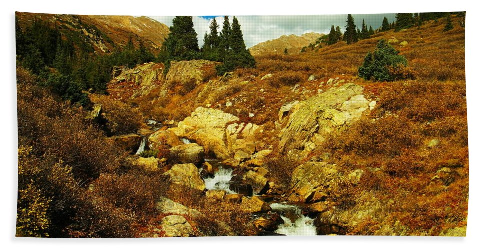 Water Beach Towel featuring the photograph Flowing Down To Aspen by Jeff Swan