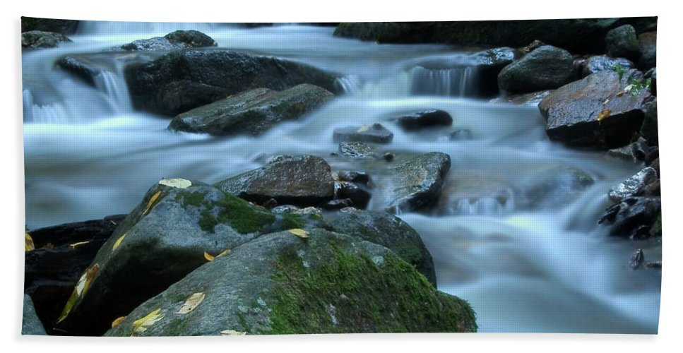 Stream Beach Towel featuring the photograph Flowing Spirit by Karol Livote
