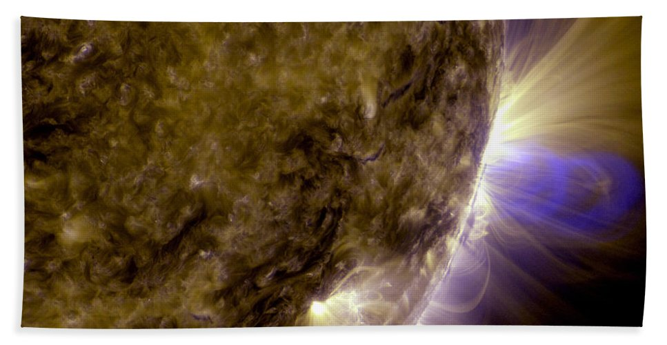 Flux Ropes Beach Towel featuring the photograph Flux Ropes On The Sun by Movie Poster Prints