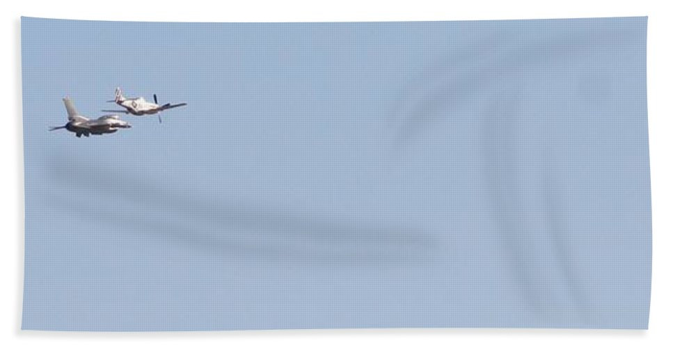 P-51 Beach Towel featuring the photograph Fly Away by David S Reynolds