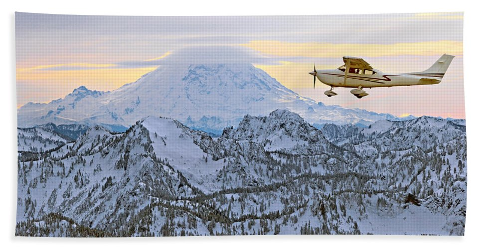 Outdoor Beach Towel featuring the photograph Flying by Paul Fell
