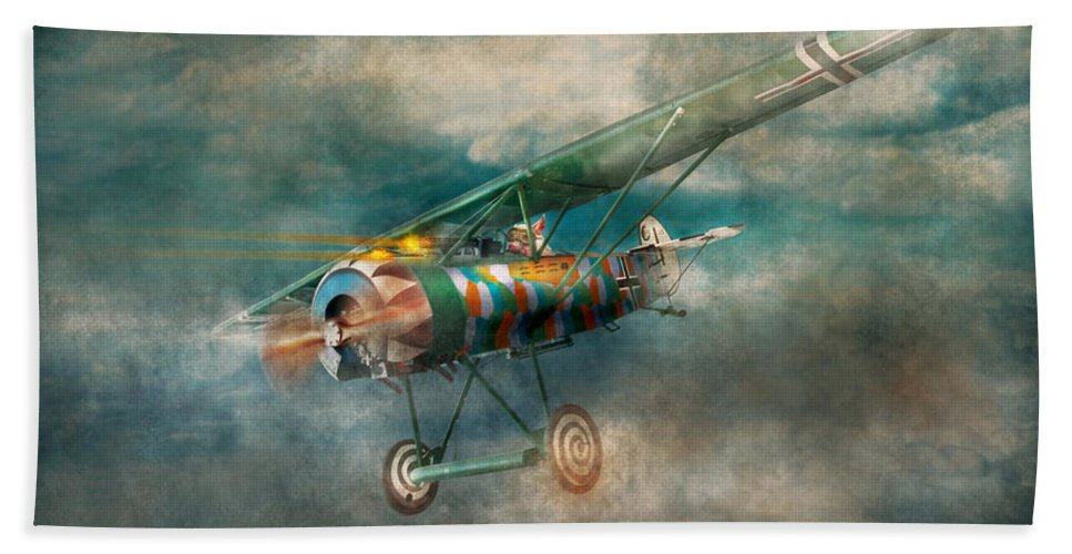 Wwi Beach Towel featuring the digital art Flying Pig - Acts Of A Pig by Mike Savad