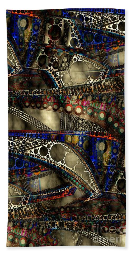 Abstract Beach Towel featuring the digital art Fog Bank 2 by Ron Bissett