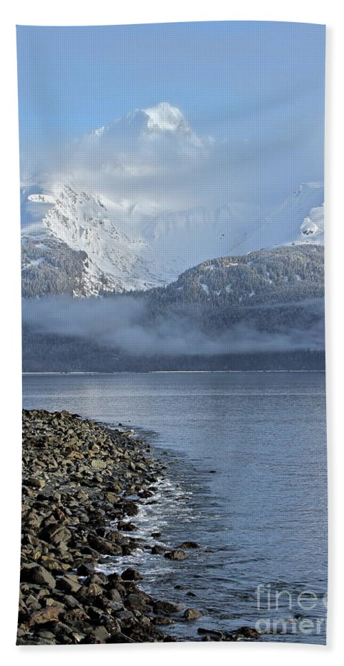 Mountain Beach Towel featuring the photograph Foggy Mountain Beyond by Rick Monyahan