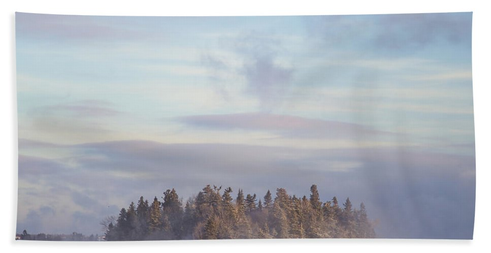 Fog Beach Towel featuring the photograph Fogscape by Evelina Kremsdorf