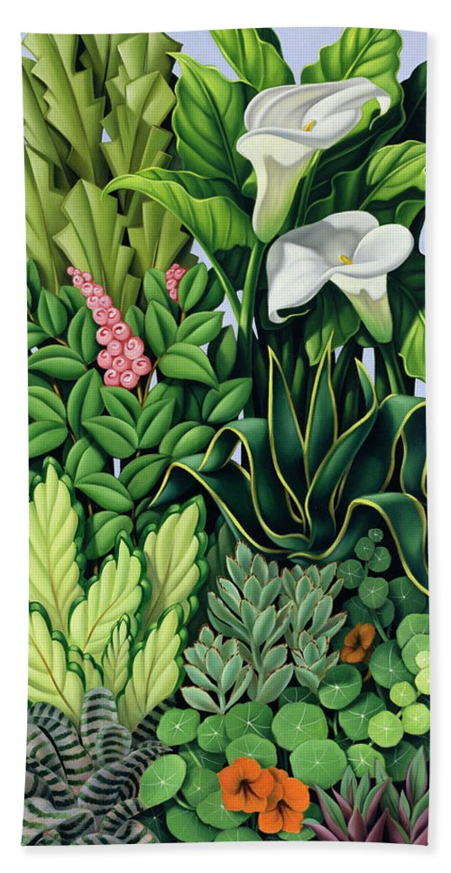 Foliage Beach Towel featuring the painting Foliage by Catherine Abel