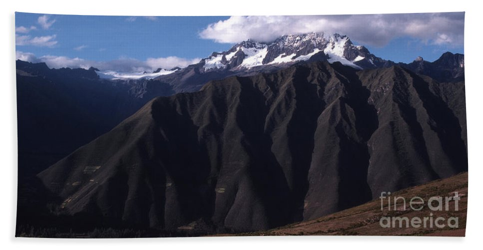 Foothill Of The Andes Beach Towel featuring the photograph Foothill Of The Andes by J L Woody Wooden