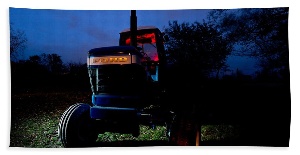 Tractor Beach Towel featuring the photograph Ford Tractor by Cale Best