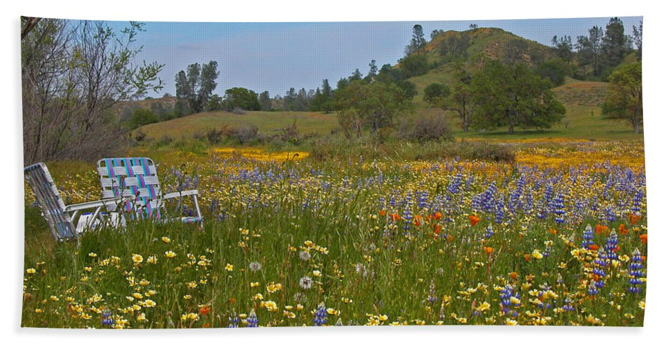 Wildflowers Beach Towel featuring the photograph Forget The Beach by Lynn Bauer