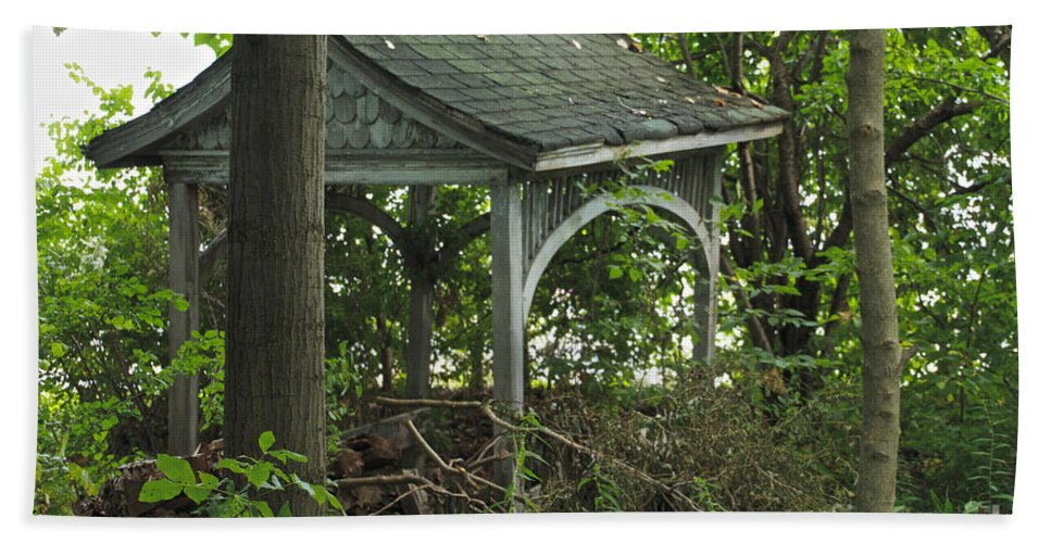 Abandoned Beach Towel featuring the photograph Forgotten Gazebo by William Norton