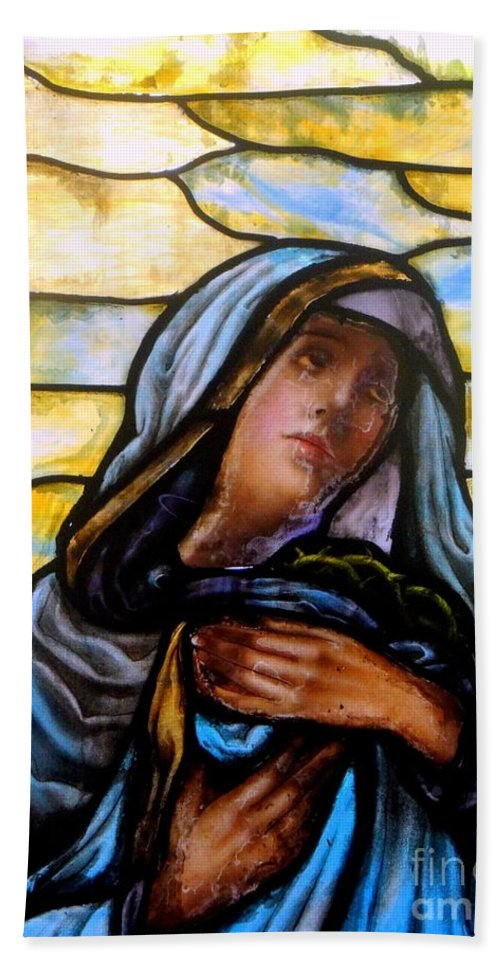 Mother Mary Beach Towel featuring the photograph Forlorn Mary by Ed Weidman