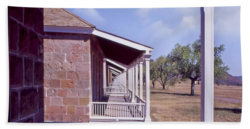 Texas Beach Towel featuring the photograph Fort Davis Perspective by David and Carol Kelly