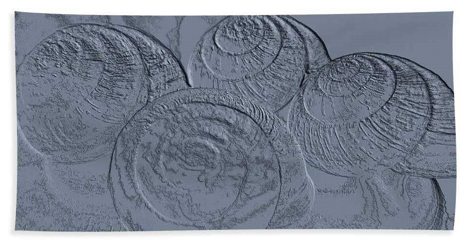 Fossils Beach Towel featuring the photograph Fossils by Martin Howard