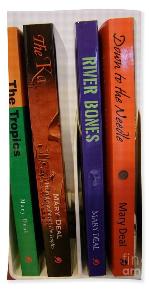 Books Beach Towel featuring the photograph Four Of My Ten Books Published by Mary Deal