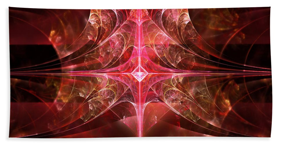 Fractal Beach Towel featuring the photograph Fractal - Abstract - The Essecence Of Simplicity by Mike Savad