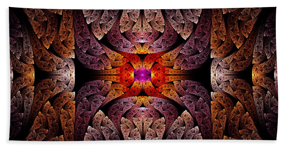 Abstract Beach Towel featuring the photograph Fractal - Aztec - The Aztecs by Mike Savad