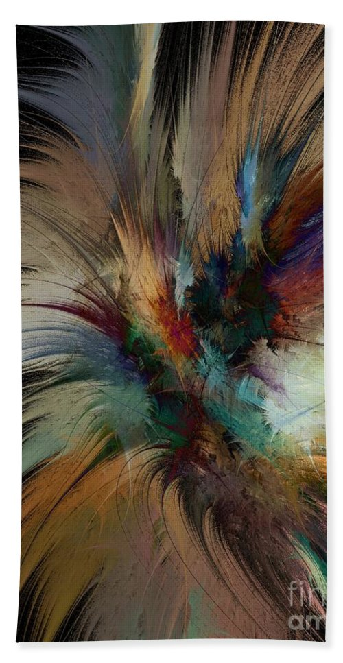 Feathers Beach Towel featuring the digital art Fractal Feathers by Klara Acel