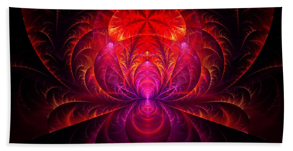 Abstract Beach Towel featuring the digital art Fractal - Jewel Of The Nile by Mike Savad