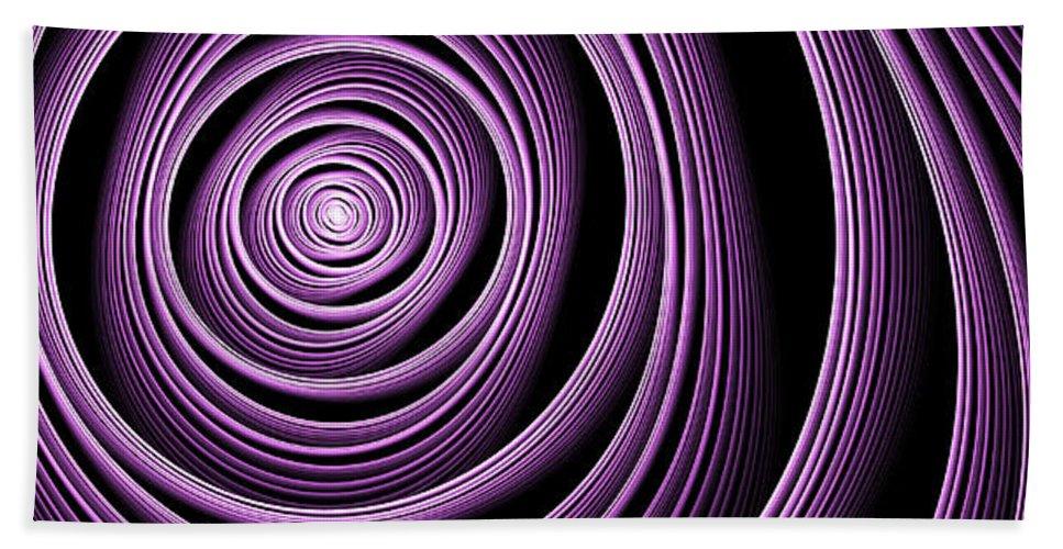 Fractal Beach Towel featuring the digital art Fractal Purple Swirl by Gabiw Art