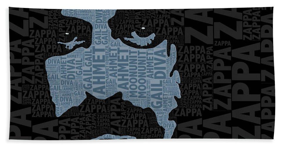 Frank Zappa Beach Towel featuring the painting Frank Zappa by Tony Rubino