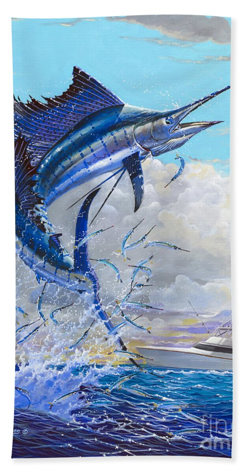 Sailfish Beach Towel featuring the painting Free Jumper Off00152 by Carey Chen