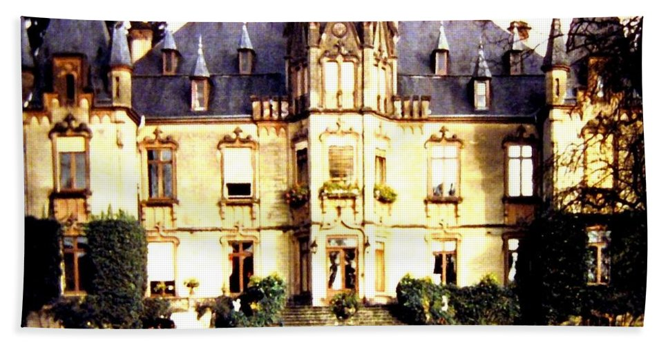 French Chateau 1955 Beach Towel featuring the photograph French Chateau 1955 by Will Borden