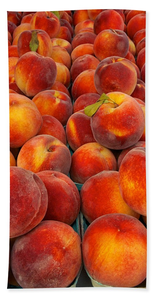 Agriculture Beach Towel featuring the photograph Fresh Peaches by David Kay