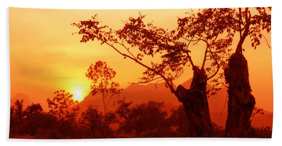 Landscape Beach Towel featuring the photograph From Thailand With Love 03 by Pusita Gibbs