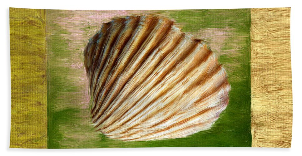 Green Beach Towel featuring the digital art From The Sea by Lourry Legarde