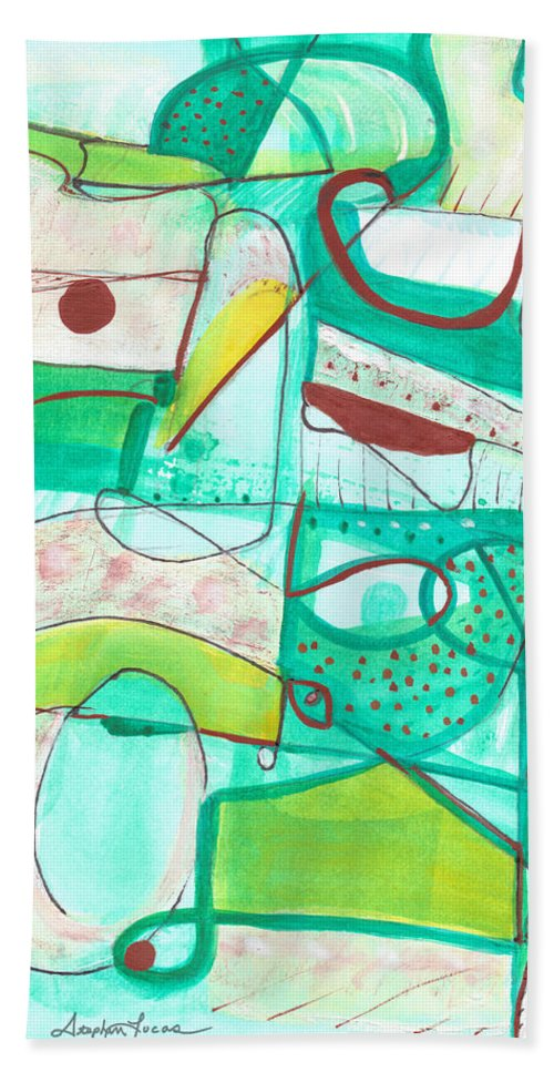 Watercolor Beach Towel featuring the painting From Within #15 by Stephen Lucas