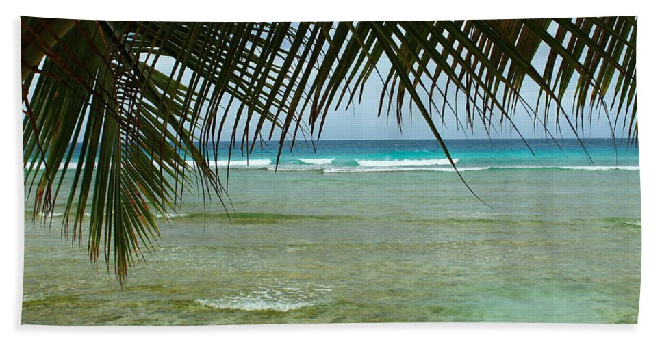 Barbados Beach Towel featuring the photograph Fronds by Catie Canetti