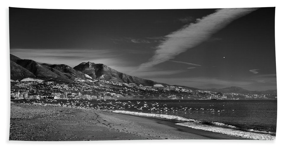 Seascape Beach Towel featuring the photograph Fuengirola Beach by Guido Montanes Castillo