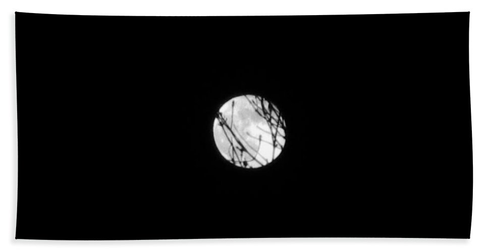 Full Moon Beach Towel featuring the photograph Full Moon by Janell R Colburn