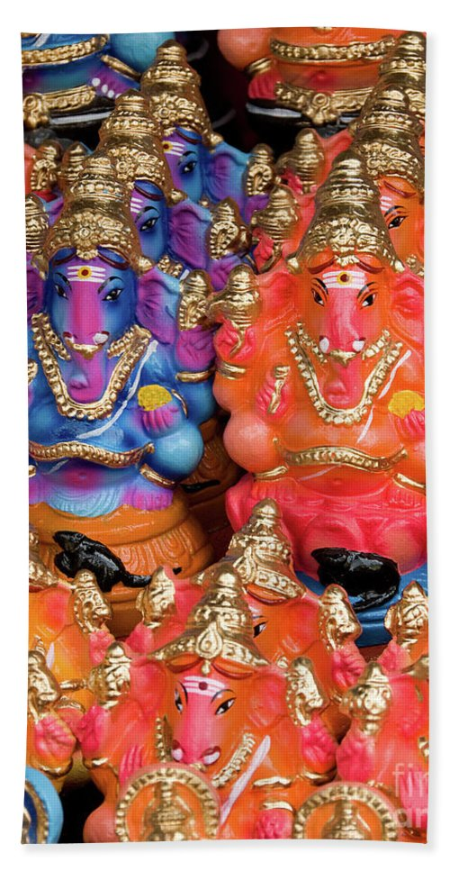 Colour Beach Towel featuring the photograph Ganesha Plastiki 02 by Rick Piper Photography
