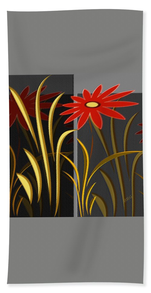 Floral Abstract Beach Sheet featuring the digital art Garden by Ben and Raisa Gertsberg