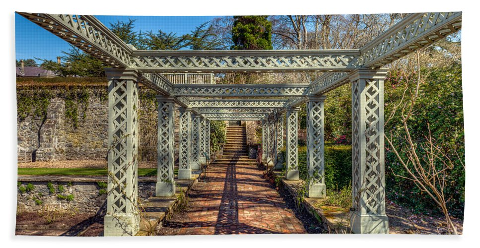 1792 Beach Towel featuring the photograph Garden Path by Adrian Evans