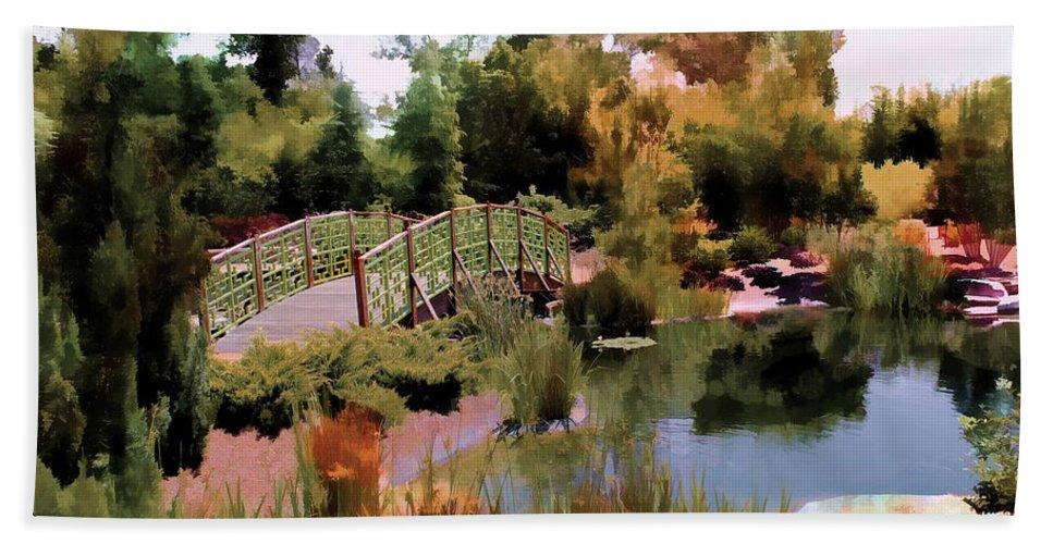 Garden Beach Towel featuring the photograph Japanese Gardens - Garden View Series 05 by Carlos Diaz